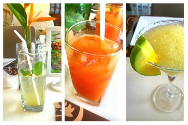 Siam's Calamansi Soda, Fresh Four Seasons Juice and Green Mango Margarita