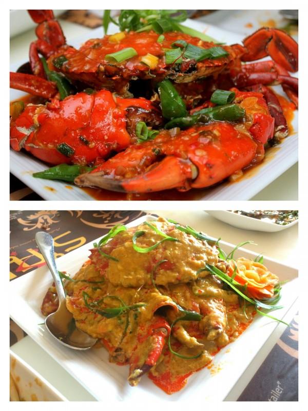 Krua Thai Chili Crab and Crab in Thai Yellow Curry