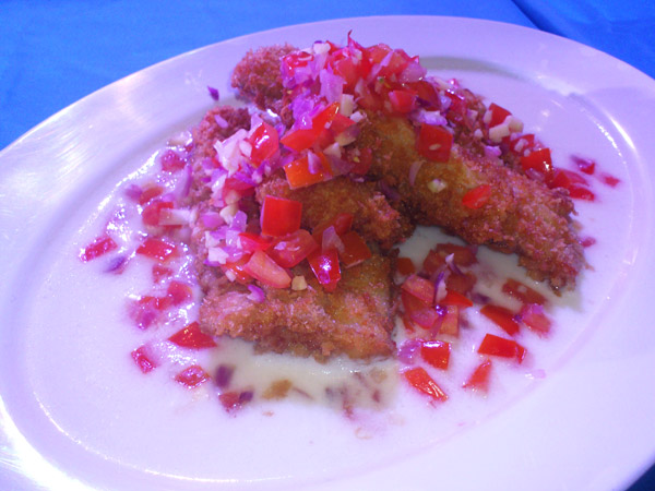 Cream Dory Fillets with Sofrito