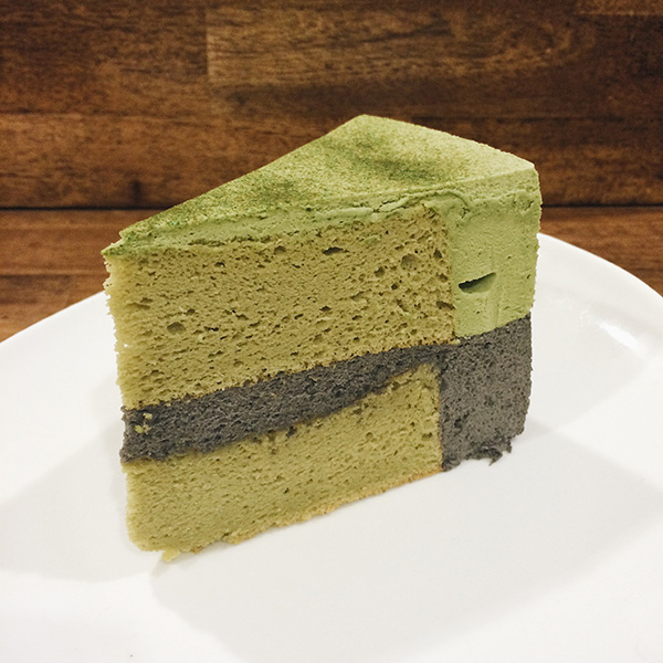Green Tea Black Sesame Cake, Php110/Slice | Php1100/Whole