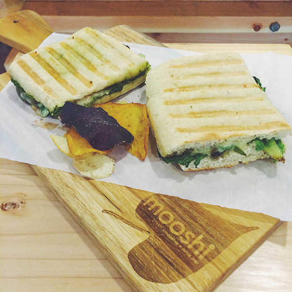 Green Sandwiches: Mushroom Cheesesteak Panini & Veggie Garden Panini