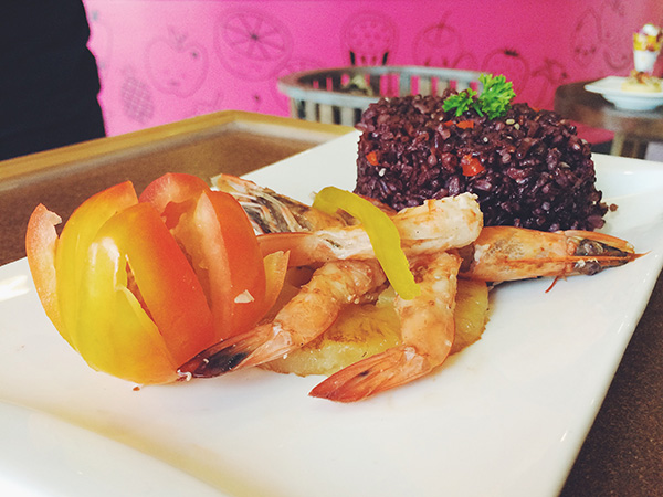 Fried Black Rice w/ Shrimp