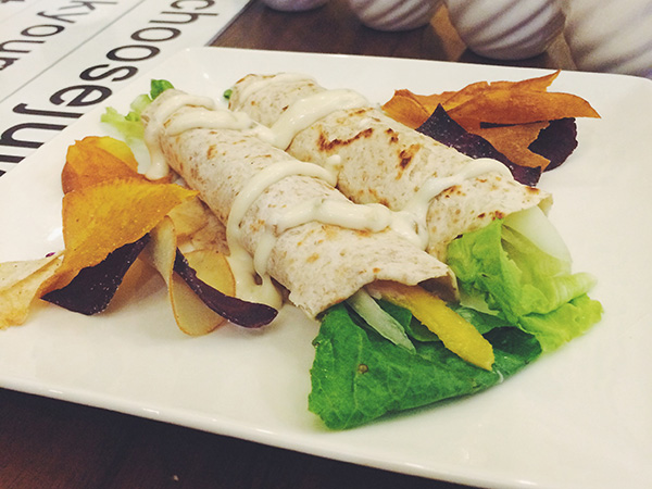 Tuna Mango in Wholewheat Tortilla Wrap