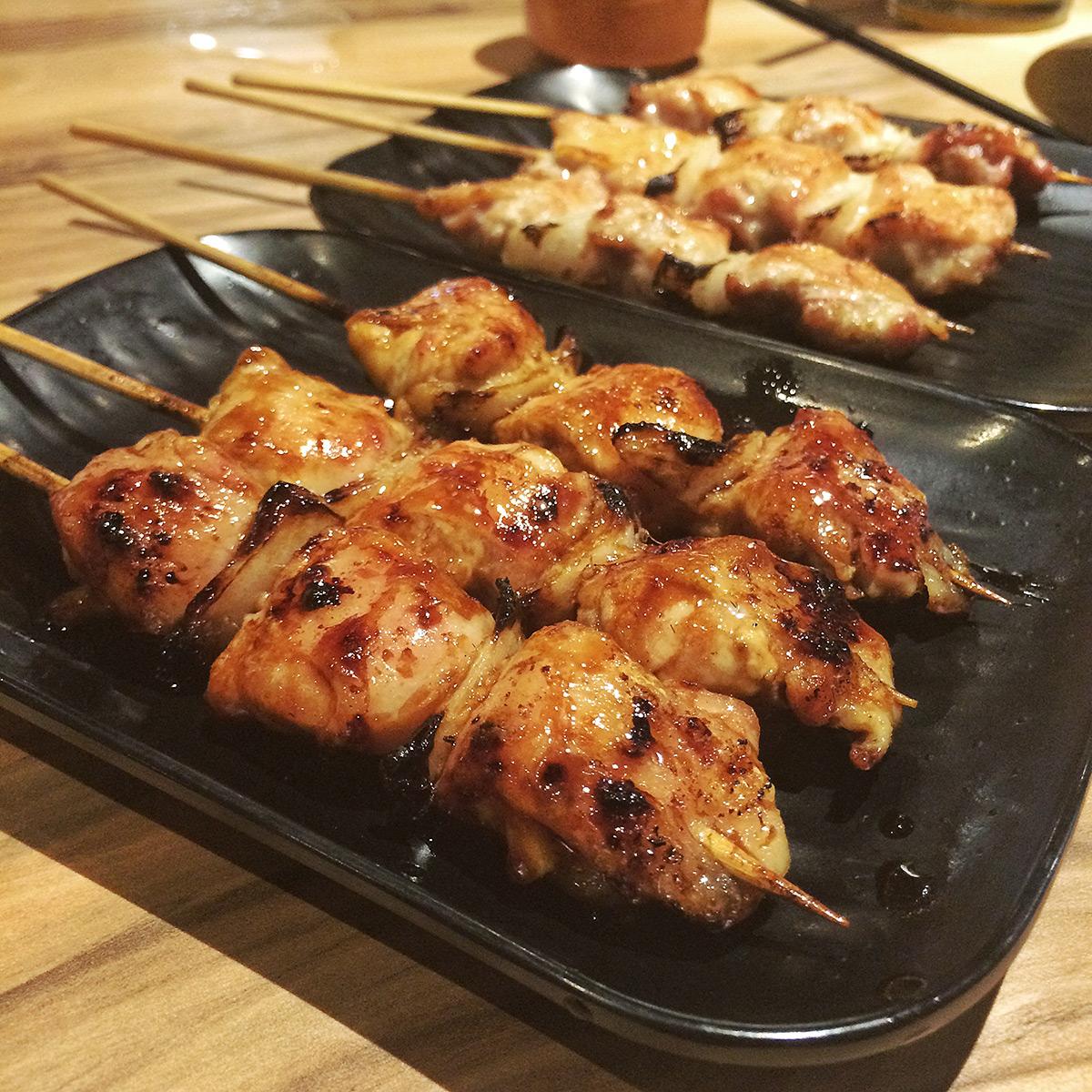 Yakitori Bincho-Tan: Chicken Thigh (Tare)