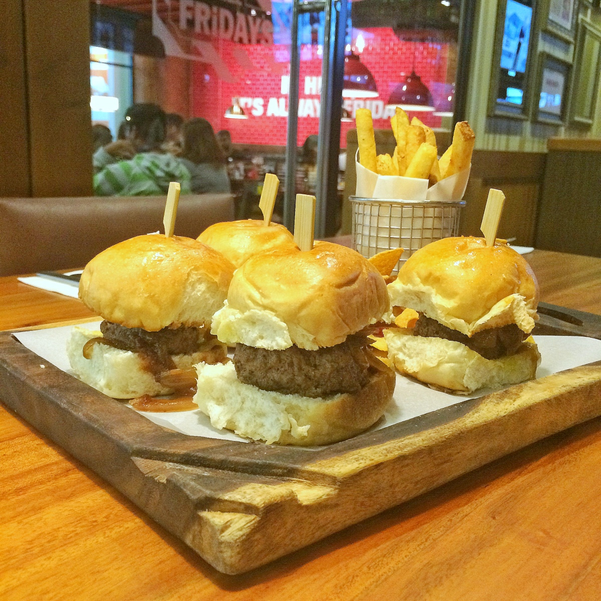 Fridays Cheeseburger Sliders