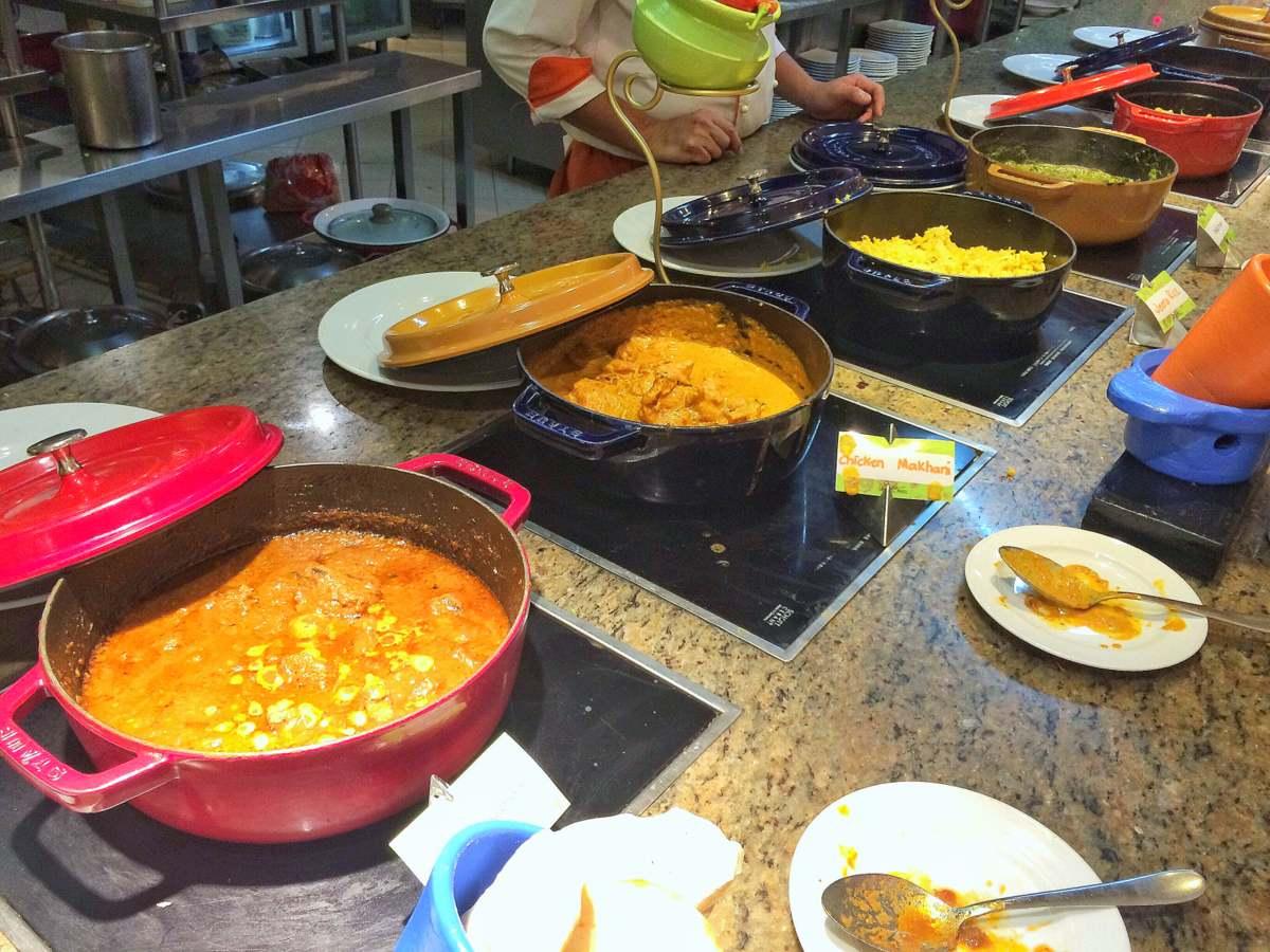 Khana: Lamb Roganjosh, Chicken Makhani, Prawn Biryani and Palak Paneer at the main course section