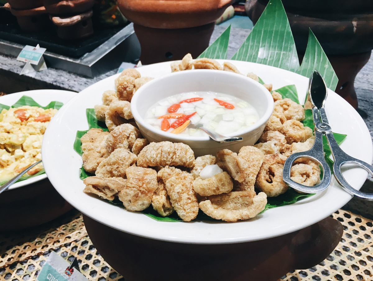 Chicharon with vinegar dip