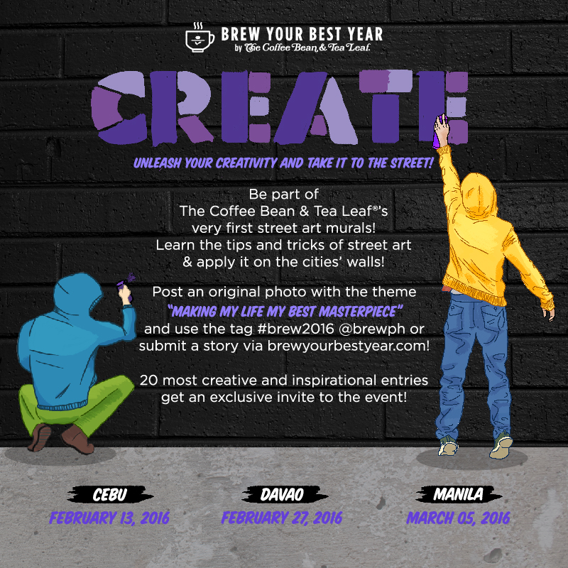The Coffee Bean and Tea Leaf®'s  Brew Your Best Year: Street Art Series