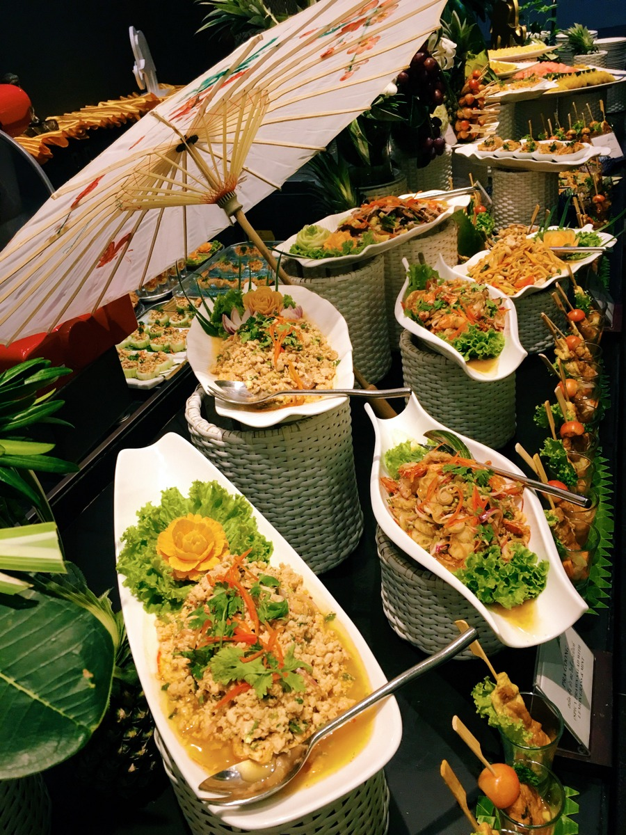 Selection of Thai salads and appetizers