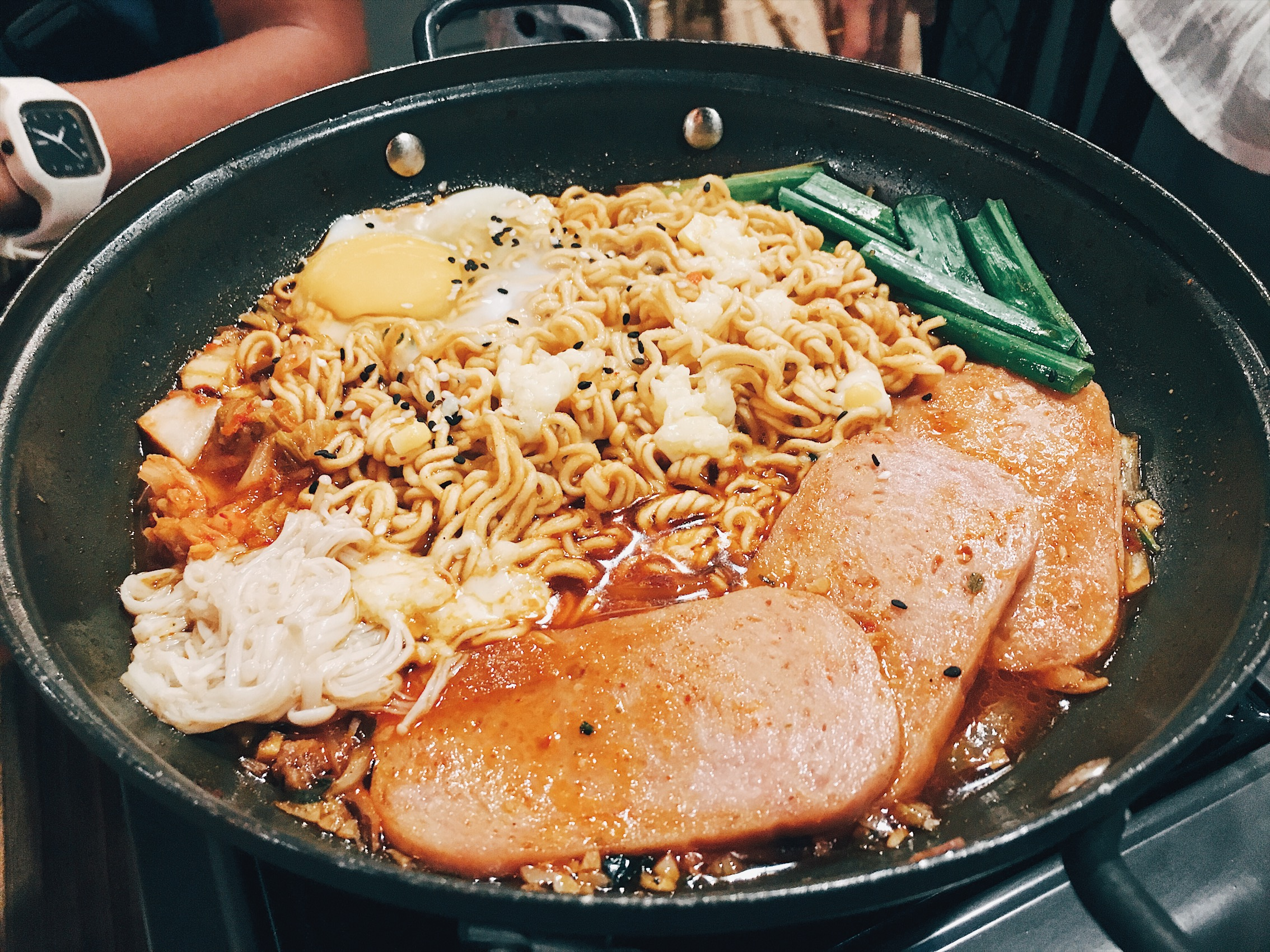 Fat Dois Cebu - Spicy Noodles with Spam and Cheese (Php180)